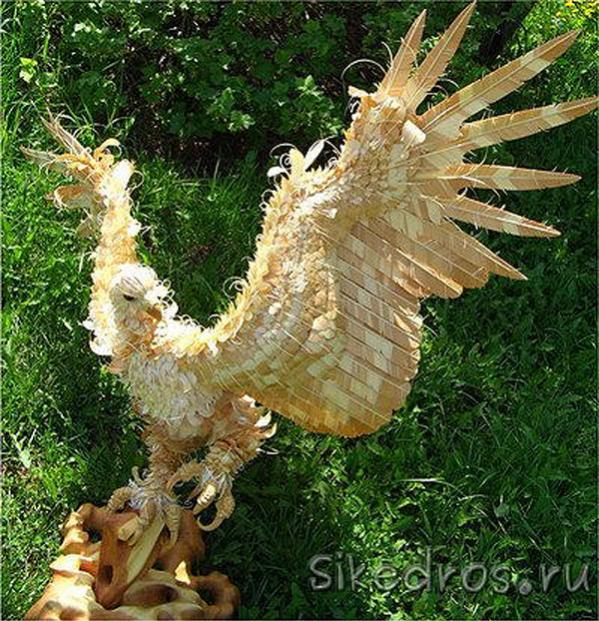 木で作った動物のクオリティがマジで高すぎる写真